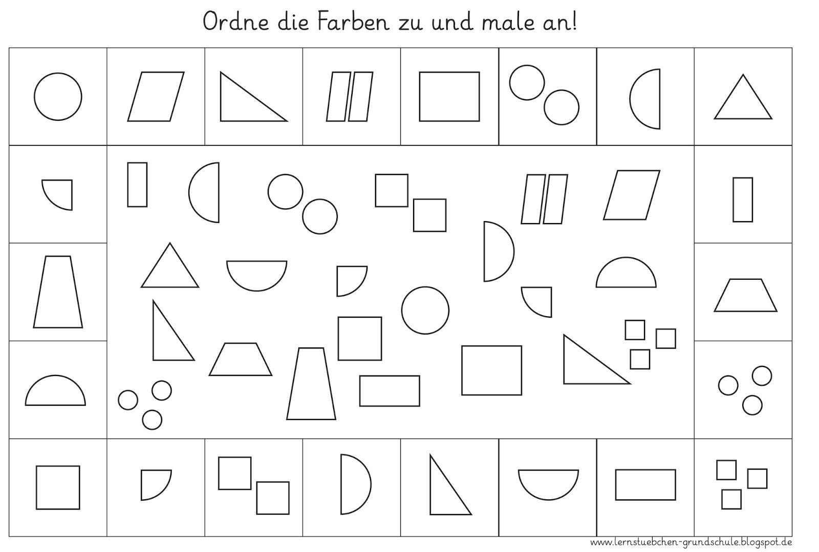 Beste Formen Zum Einfärben Galerie - Malvorlagen Von Tieren - ngadi.info