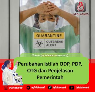 Perubahan Istilah ODP, PDP, OTG dan Penjelasan Pemerintah