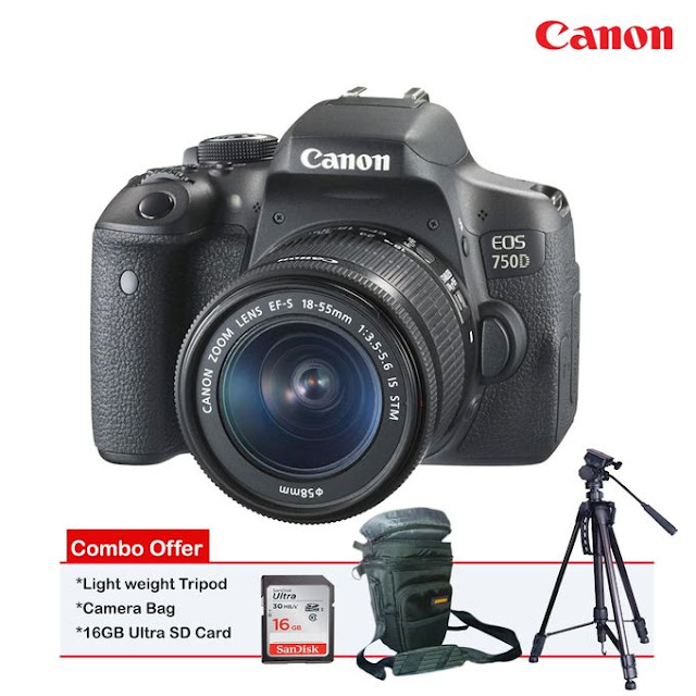 Canon EOS 750D with 18-55mm Lens