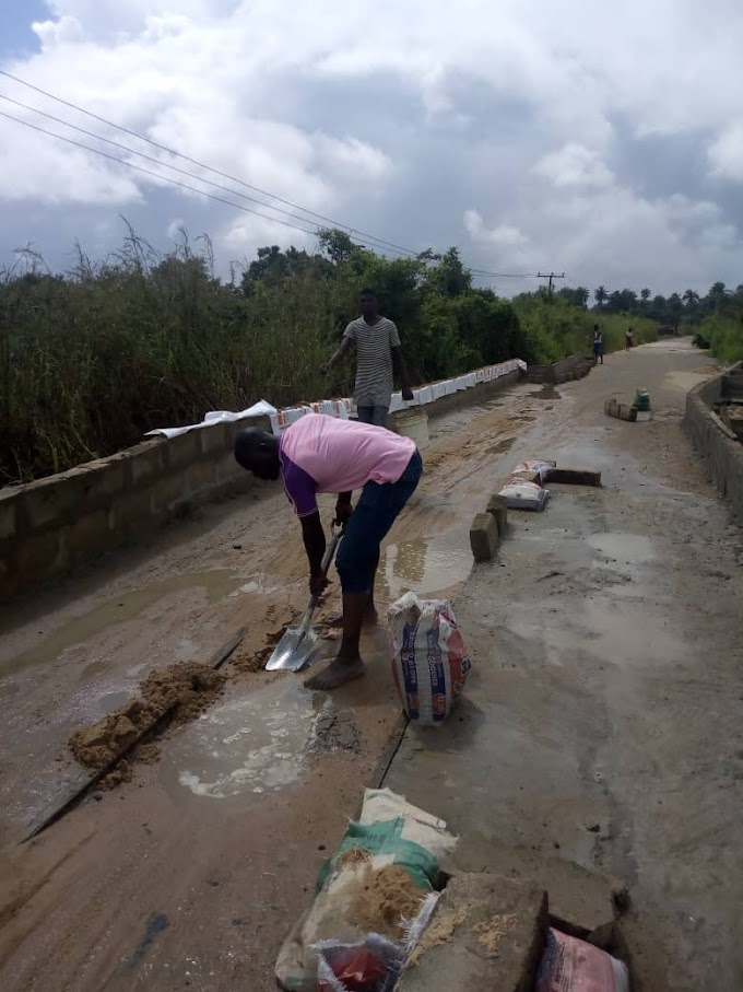 Asaba Ase in ward seven (7) Ndokwa Eas Thank c For Reparing Their Read After Many years of Bad Road