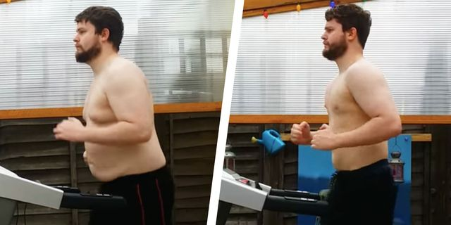 This Guy's Treadmill Time-Lapse Video Shows Him Losing Nearly 50 Pounds in 7 Months