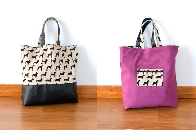 tutorial tote bag reversible