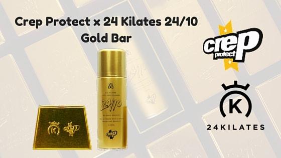 new style 4f000 b5986 New collaboration Crep Protect x 24 Kilates 24 10 Gold Bar