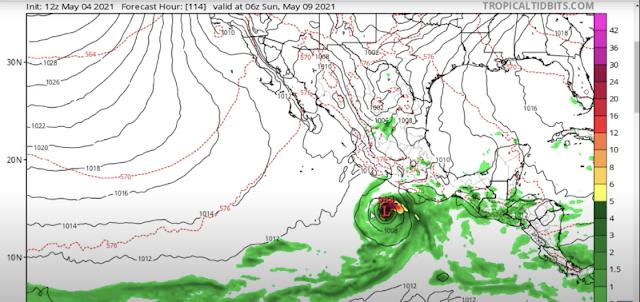 Pronostican la formación de una tormenta tropical en el Pacífico