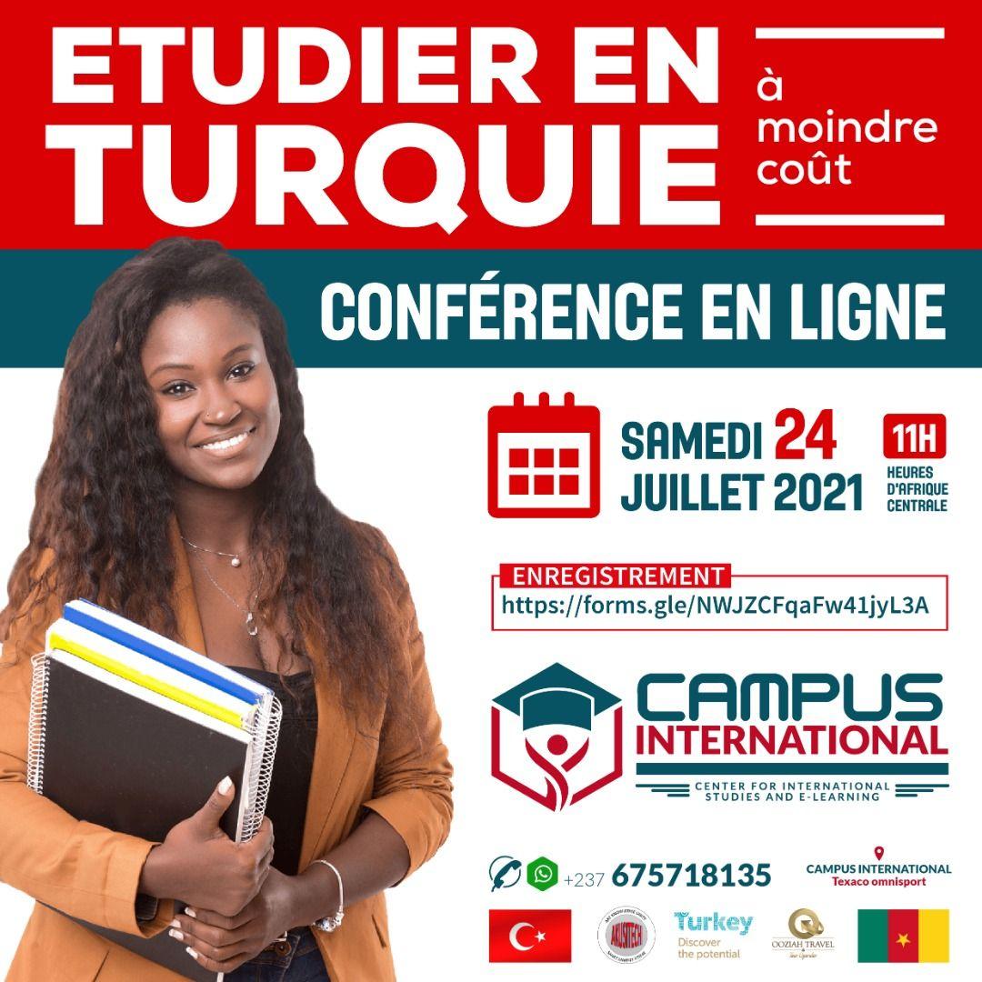 Conférence gratuite en ligne sur les Etudes en Turquie - Campus International