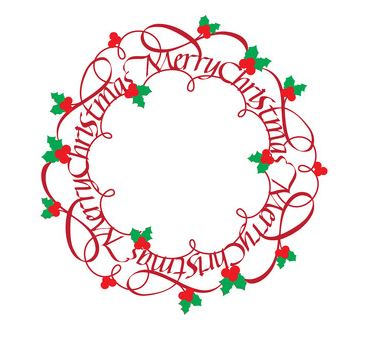 Christmas Wreath Silhouette.Quietfire Digital Merry Christmas Wreath Home Decor