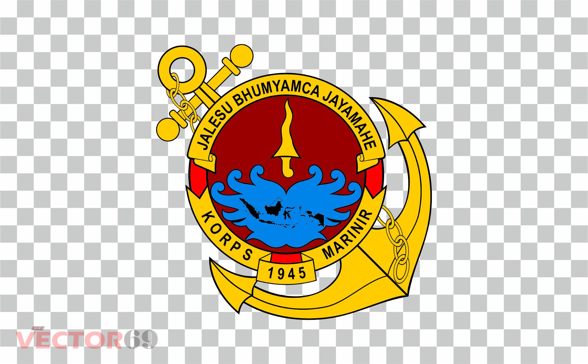 Korps Marinir Indonesia Logo - Download Vector File PNG (Portable Network Graphics)