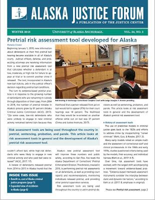Alaska Justice Forum 34(3), Winter 2018