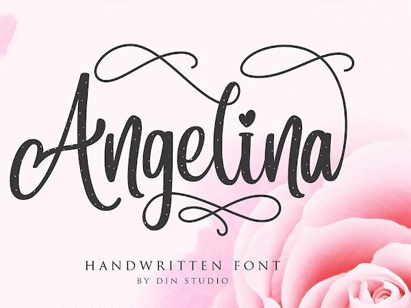 Angelina Feminine Script Font Free Download