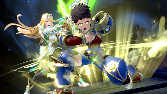 Mythra e Rex em Super Smash Bros. Ultimate