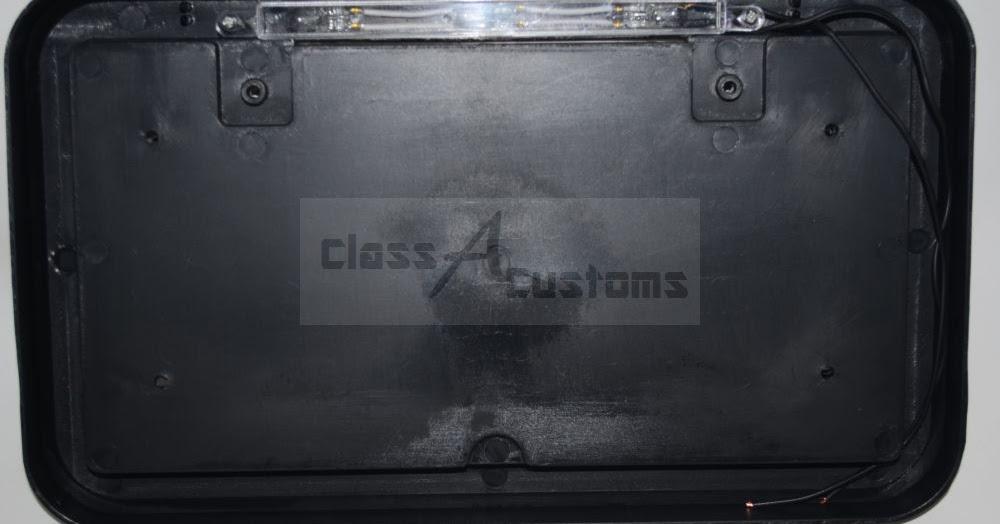 Class A Customs Square Black Trailer License Plate