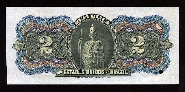 Cedula Brasil Mil Reis billetes