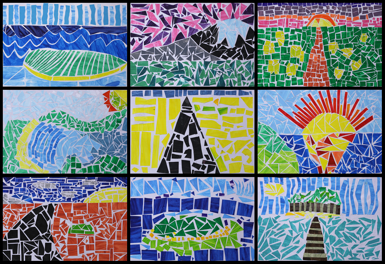 Art With Mr Hall Mosaic Landscapes