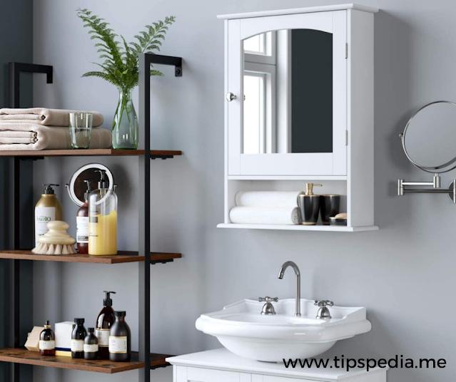 bathroom overhead cabinets