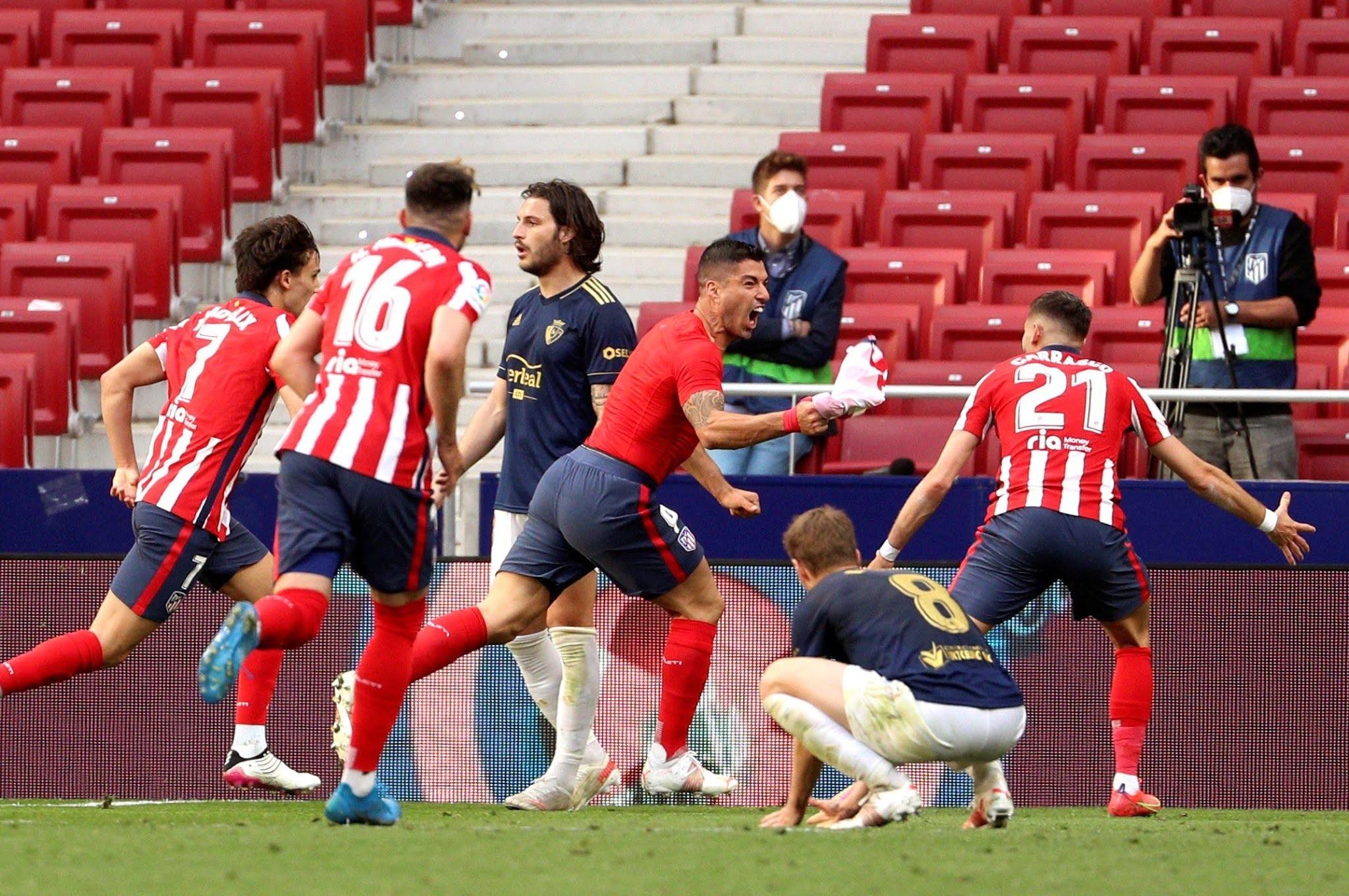 El Atlético Madrid de Simeone lo dio vuelta en el final y quedó a un paso de la obtención del título