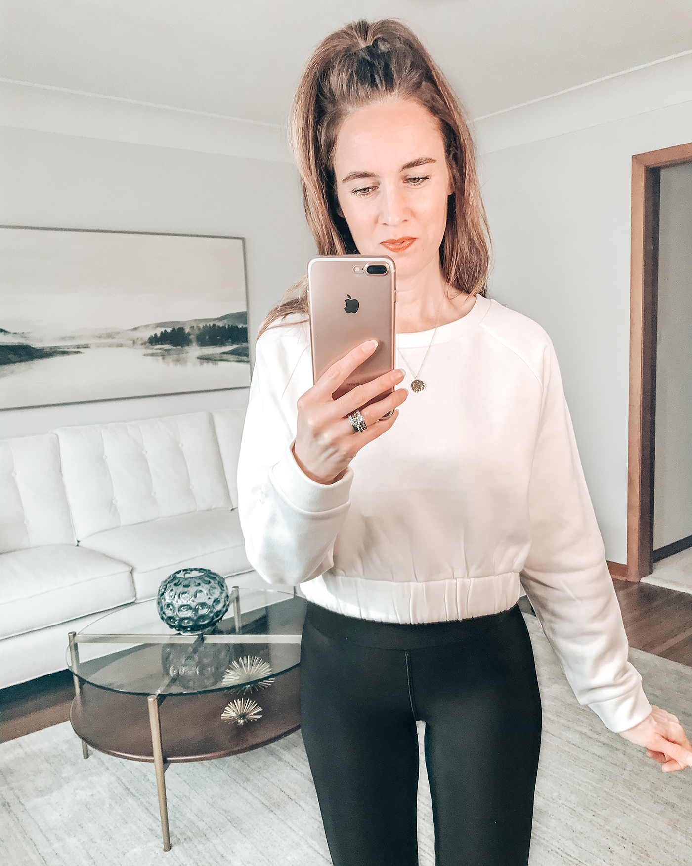 style blogger wearing cute workout outfit