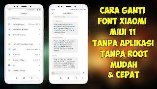 Cara Ganti Font / Jenis Huruf Di Xiaomi MIUI 11 Tanpa Aplikasi