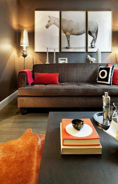 sofa cinza na decoração