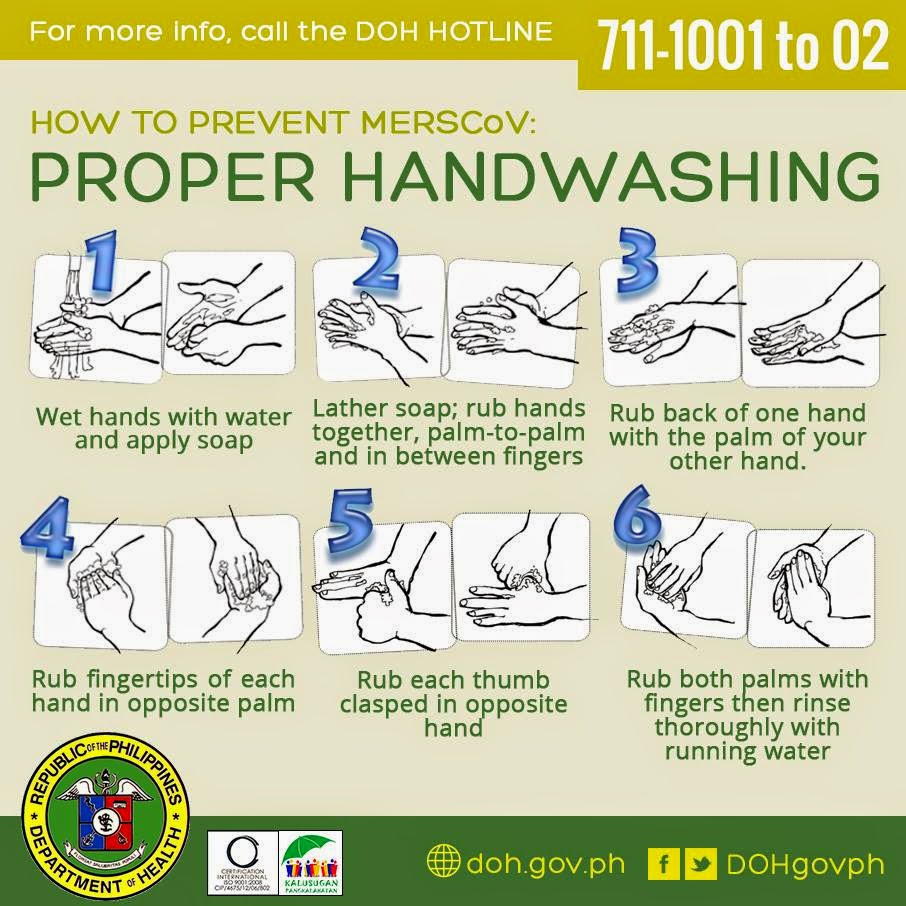 Proper Handwashing to prevent MERS-COV