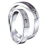cincin nikah simple glossy dove