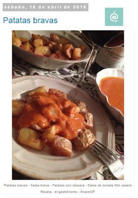 Recetas TOP10 de El Gastrónomo en mayo 2016 - Patatas bravas