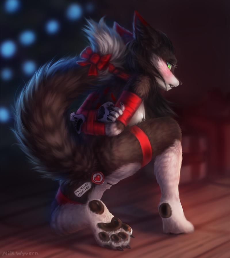Christmas furry bondage