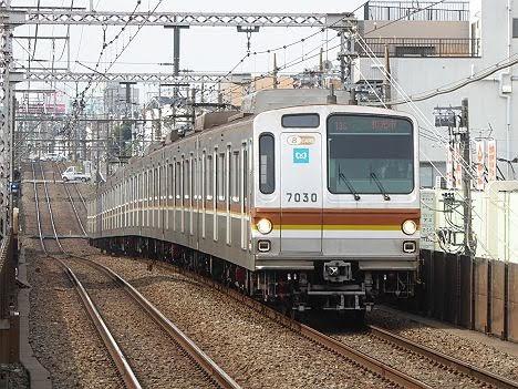 東急東横線 副都心線直通 各停 和光市行き3 東京メトロ7000系