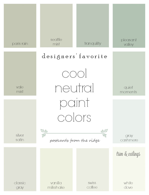 cool neutral paint swatches