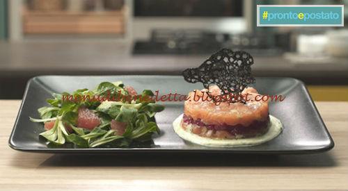 Pronto e postato - Tartare di salmone ai lamponi ricetta Benedetta Parodi