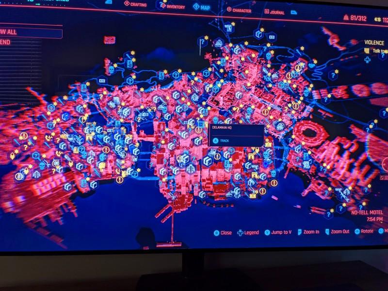 Cyberpunk 2077 Knight City map leaked Screenshot