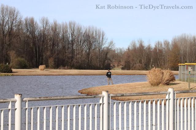Fishing at Latimer Lake Park in Horn Lake, MS.