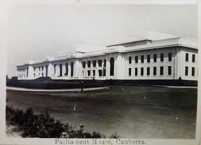 Parliament House, Canberra, front facade looking southeast, Circa 1930s