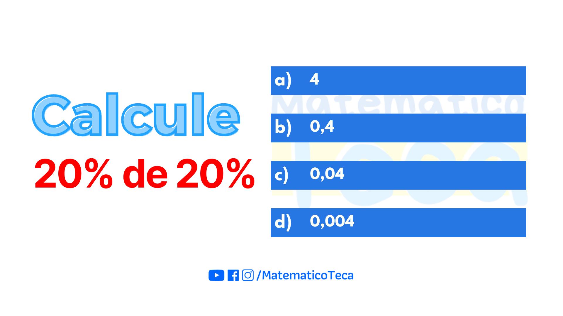 Calcule a Porcentagem | Qualé
