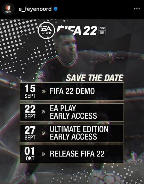 FIFA 22 Data premiery