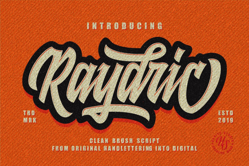 Raydric Font - Free Fashion Script Typeface