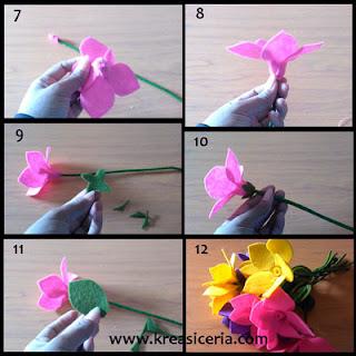 Tutorial membuat bunga alamanda dari bahan kain flanel part 2