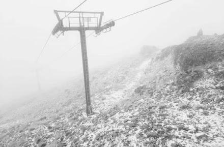 Το πρώτο χιόνι της σεζόν στον Παρνασσό