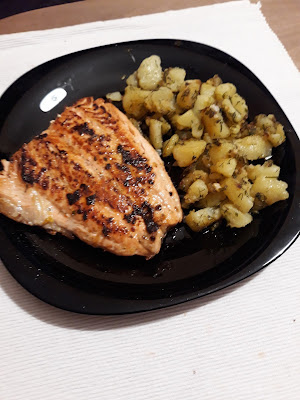 yummy salmon dish with potatoes