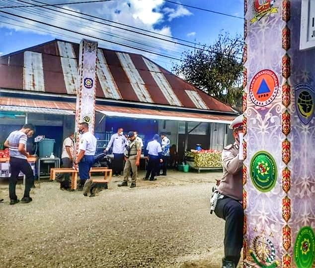 BPBD Gumas Dirikan Lima Pintu Gerbang di Kota Kurun