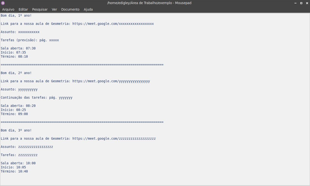 Mousepad (bloco de notas)