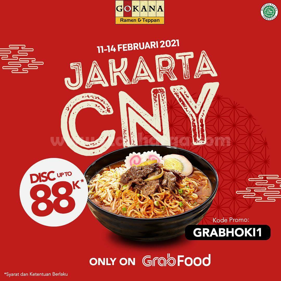 GOKANA JAKARTA Promo CNY GRABFOOD! DISKON hingga Rp 88.000