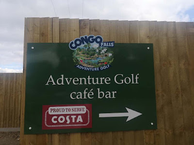 Congo Falls Adventure Golf at Stockwood Vale Golf Club in Bristol. Photo by Claudia Collins, July 2020