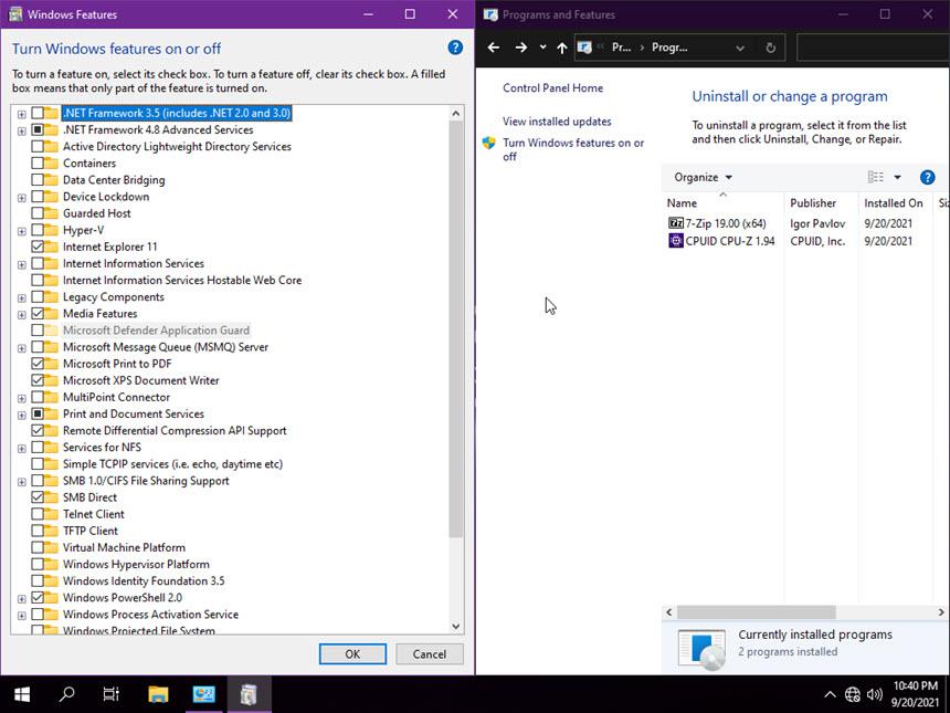 Windows 10 Lite 21H1 Build 19043.1237