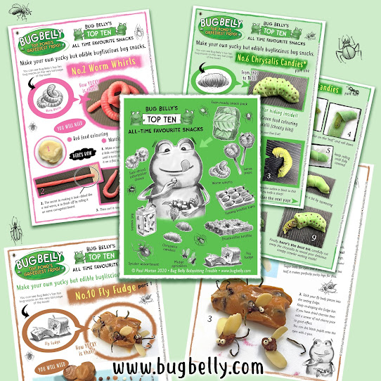 Image of Bug Belly the frog's favourite bug snacks
