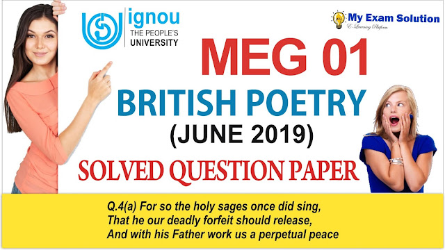 meg 01 british poetry, british poetry meg 01, meg 01 british poetry, ignou meg 01, british poetry ignou