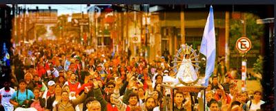 La irracional peregrinación de Liniers a Luján - 60 kms de pura de innecesario sacrficio