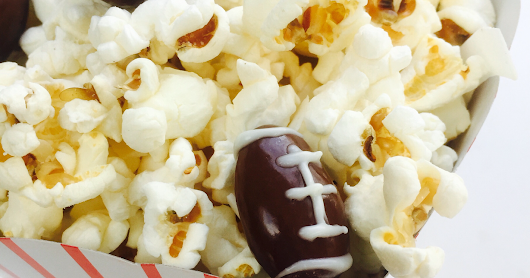 Coconut Chocolate Almond Football Snack Mix