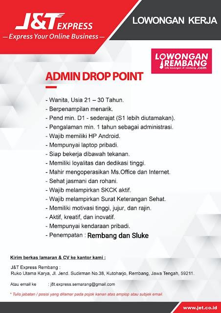 Lowongan Kerja Admin Drop Point J&T Express Rembang