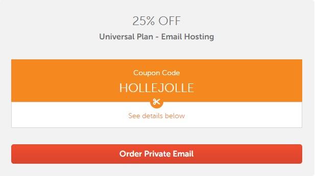 2 - Mã giảm giá Private Plan - Email Hosting trên Namecheap tháng 12/2019