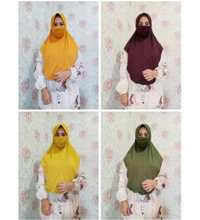 Hijab instan syiria niqab / JILBAB masker jersey premium